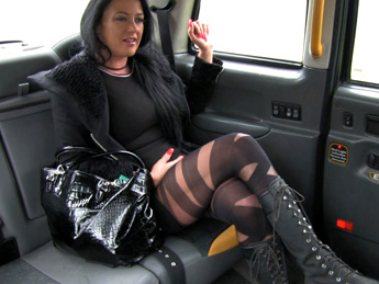 FakeTaxi - Local escort fucks taxi man on her way to a client