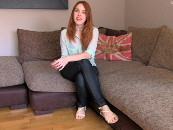 FakeAgent UK - Petite Spanish redhead fucks agent good and hard