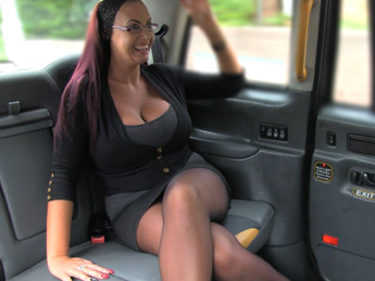FakeTaxi - Secretary looking lady with huge tits and wet pussy