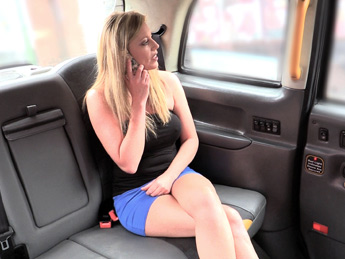 FakeTaxi - Posh blonde bird misses date and gets fucked in taxi instead