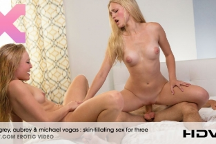 X art - Skin Tillating Sex For Three Aubrey and Alex Grey