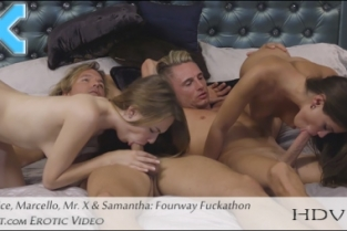 X art - Caprice Fuck Me Four Ways
