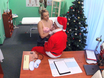 Fake Hospital - Doctor Santa cums twice this year