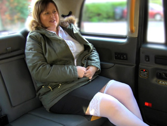 FakeTaxi - Back seat anal for curvy lass