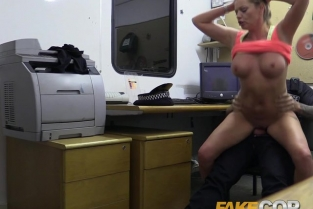 FakeCop - Hot gym MILF pulled over and fucked