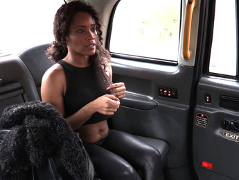 FakeTaxi - Ebony babe sucks and fucks in taxi