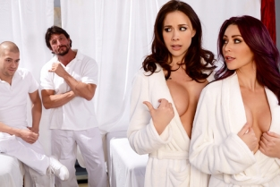Let's Get Facials! Chanel Preston, Monique Alexander, Tommy Gunn, Xander Corvus