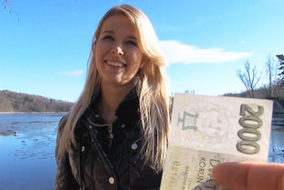 Euro Blonde Bangs Outdoors Video & Nikky Dream - Public Pick Ups