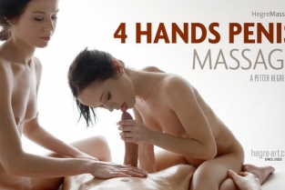 Hegre Art - 4 Hands Penis Massage Julietta and Magdalena
