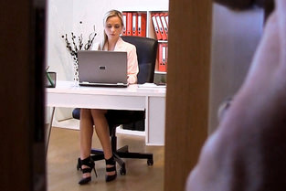 Czech Blonde Fucks in Office Video & Cristal Caitlin - Pervs On Patrol