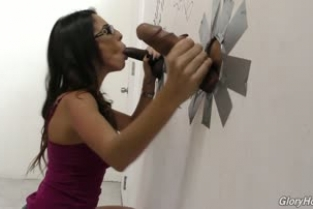 GloryHole - Dava Foxx - Interracial At GloryHole