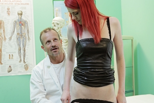 Fake Hospital - Anne Swix Cute Redhead Rides Doctor for Cash