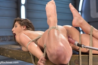 Fucking Machines - Abella Danger Bondage Slut Gets Fucked Senseless in Rope Bondage