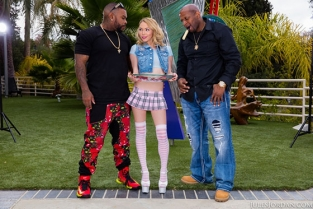 JulesJordan - Angel Smalls The Devil's Threeway DP'd By Big Black Cocks