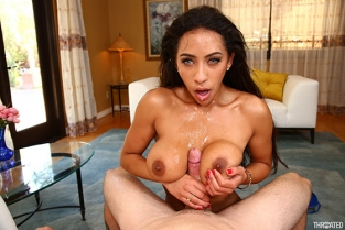 Throated - Priya Price Busty Latina's First Time