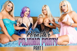 DigitalPlayground - Aaliyah Ca Pelle, Jasmine James, Michelle Thorne, Sienna Day Porn Star Pajama Party Part 1