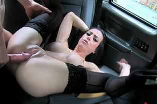 Fake Taxi - Lady With Big Tits Black Stockings