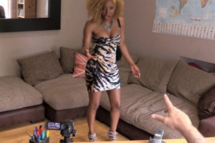 Fake Agent UK - Hot Ebony Chick Demands a Hard Fuck