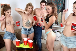 BFFs - Arya Fae, Kristen Scott Dorm Party