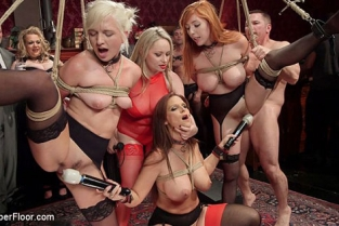 TheUpperFloor - Syren de Mer, Eliza Jane, Aiden Starr, Lauren Phillips Fantastically Fevered Folsom Orgy