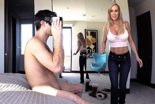 SpyFam - Brandi Love Stepmom Plays With Gamer Son's Joystick