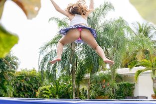 Big Tit Babe Twerks on Trampoline Ivy Rose - Pervs On Patrol