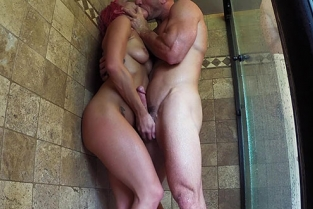 SinsLife - Johnny Sins & Kissa Sins Shower Creep