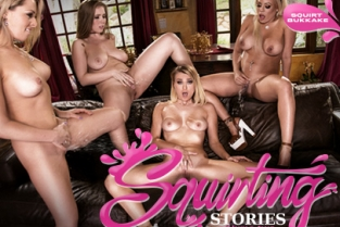 GirlsWay - Squirting Stories Volume Two: Squirt Bukkake Zoey Monroe, Luna Star, Natalia Starr, Lena Paul