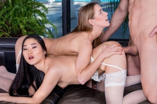 Private - Katana, Alexis Crystal The Asian Katana Has A Threesome With Alexis Crystal