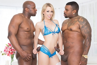 JulesJordan - Zoey Monroe Dp'd, Opens Up Her Holes For Two Big Black Cocks