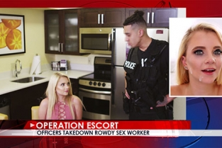 OperationEscort - Riley Star Officers Takedown Rowdy Sex Worker