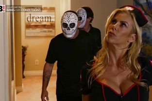 BangConfessions - Alexis Fawx Fucks Her Stepson And His Buddy On Halloween Night
