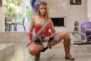 Tiny4K - Adriana Chechik Super Hero Goes Trick Or Treating