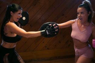 GirlsWay - Lesbian Workout Stories: Going Hard Dillion Harper, Romi Rain