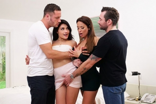 SpyFam - Adria Rae, Anissa Kate Thanksgiving Family Fuckfest
