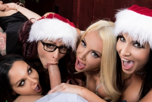 Office 4-Play: Christmas Bonuses Ava Addams, Monique Alexander, Nicolette Shea, Romi Rain, Keiran Lee