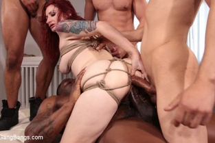 BoundGangBangs - Violet Monroe Takes A Temp Job Getting Stuffed Airtight