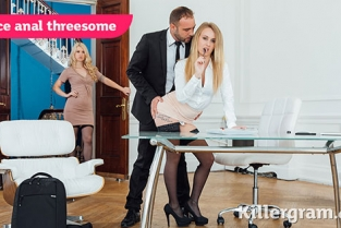 Killergram - Misha Cross, Carmel Anderson Office Anal Threesome