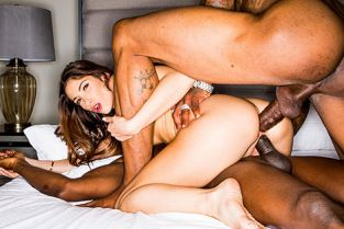 BlackedRaw - Clea Gaultier French Girl Double BBC