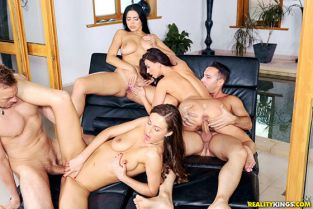 RealityKings - Kira Queen, Tina Kay, Vicky Love Horny Models Pool Party EuroSexParties