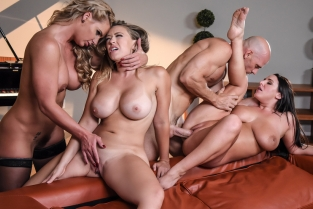Dinner For Cheats Angela White, Kagney Linn Karter, Phoenix Marie, Johnny Sins