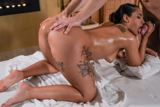 Massage Rooms - Kiara Strong & Michael Fly Sensual sex with Spanish brunette