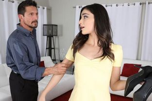 Blackmailed - Emily Willis Stepdad Blackmails Teen Bad Girl Emily