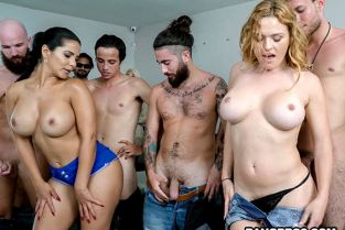 FuckTeamFive - Krissy Lynn, Rose Monroe, Valentina Jewels Porn Casting Surprise!