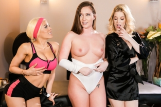 AllGirlMassage - Two is Better Than One Maddy OReilly, Charlotte Stokely, Luna Star
