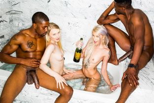 BlackedRaw - Lily Rader, Arya Fae New Friends