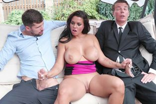 BangGlamkore - Chloe Lamoure Giant Tits And A Craving For Two Dicks!