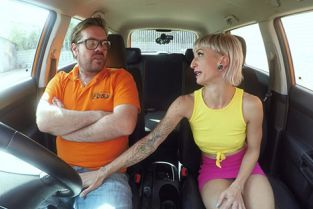 FakeDrivingSchool - Luna Toxxxic Petite German pussy gets creampied