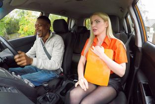 FakeDrivingSchool - Georgie Lyall Long black cock pleases examiner