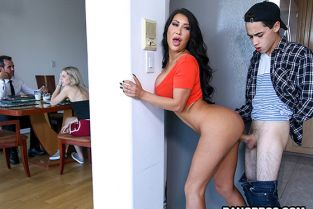 BangBros - August Taylor Creampied by Her Step-Son BigTitCreamPie